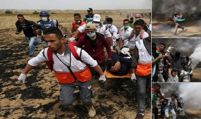 آمار کشتهها و زخمیهای فلسطینی توسط تک تیراندازهای اسرائیلی از ۴۶۰۰ نفر گذشت: چهارمین هفته متوالی تظاهرات