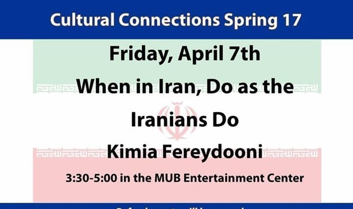 Kimia Fereydooni on Cultural Connections: When In Iran, Do As The Iranians Do