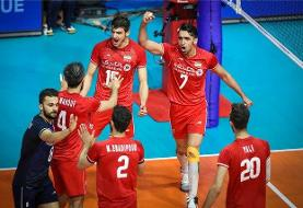 هفته پنجم والیبال لیگ ملتها با باخت ایران به فرانسه پایان یافت اما ایران نخستین فینالیست لیگ شد