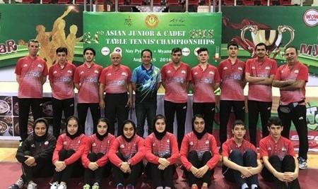 مدال آسیایی پینگپنگ ایران پس از ۶۰ سال: برنز آسیا برای تیم پسران قطعی شد