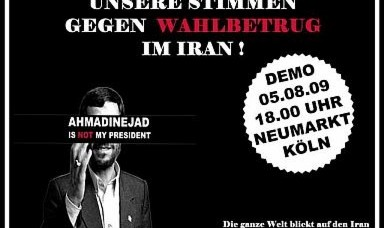 Ahmadinejad is NOT my President