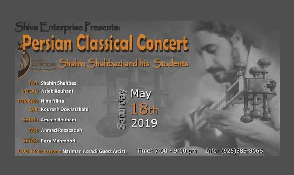 Persian Classical & Contemporary Concert with Shahin Shahbazi