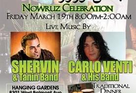 Carlo Venti, Shervin & Tanin Band in Norouz Party ۱۳۸۹
