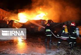 آتشسوزی بزرگ یک کارگاه کهریزک: ۷ کشته و مجروح