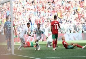 علیرغم بازی خوب و شجاعانه، مراکش بازی را به گل زودهنگام پرتغال باخت