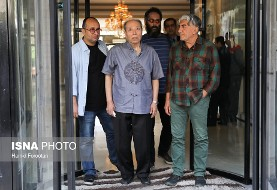 به روایت تصویر: مردم و پیشکسوتان سینما برای خداحافظی با عزت الله انتظامی آمدند
