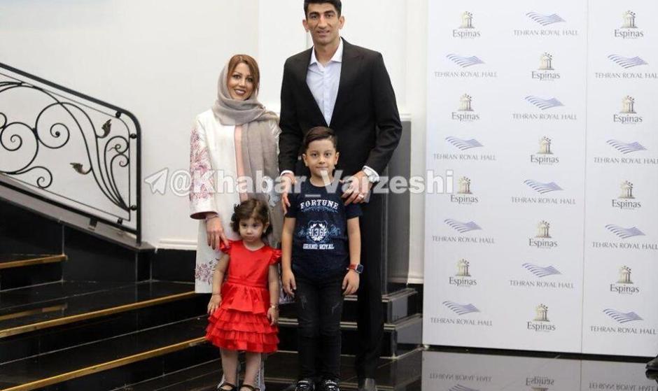 عکس بیرانوند و همسرش در مراسم بهترینهای لیگ برتر