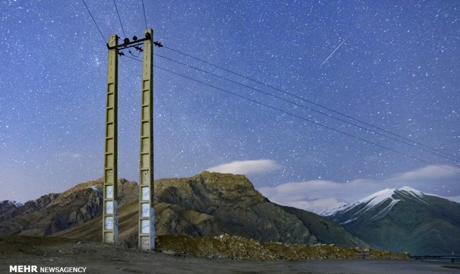 رصد پرشهابترین بارش سال: تصاویر بارش شهابی جوزایی در آسمان ایران