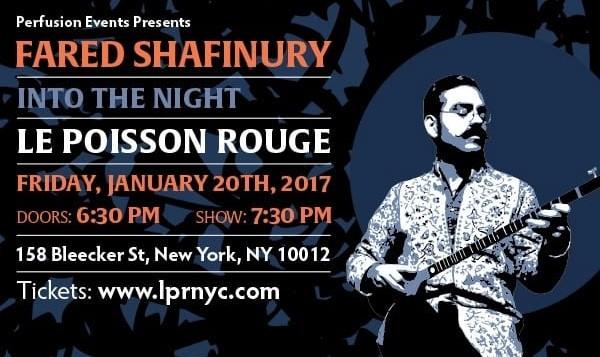 Fared Shafinury: Into The Night, Album Release Concert