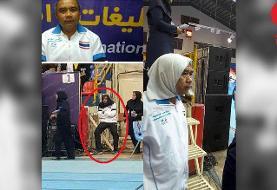 بازگشت مرد روسری به سر به ایران +عکس