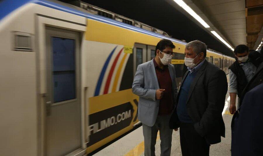 تصاویر آیین افتتاح ایستگاههای مترو قیام و دولاب در تهران