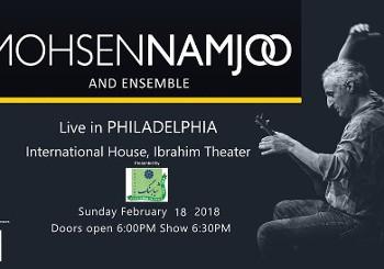 کنسرت محسن نامجو و گروه در فیلادلفیا