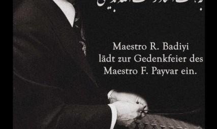 مراسم بزرگداشت استاد فرامرز پایور به همّت استاد رحمت الله بدیعی در شهر کلن آلمان