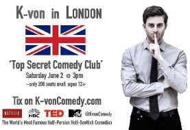 K-von in UK: The Most Famous Half-Persian Comedian