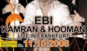 کنسرت ابی، کامران و هومن در فرانکفورت