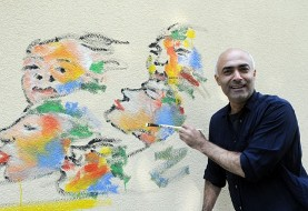 Kani Alavi in Seinem Atelier