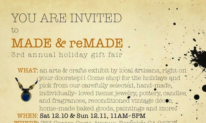 MADE & reMADE Holiday Gift Fair