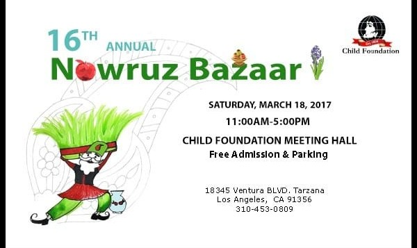 NEW DATE: Annual Nowruz Bazaar By Child Foundation