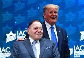کمک ۵۰ میلیون دلاری میلیاردر یهودی حامی نتانیاهو و سرکرده قمارخانه ها به کمپین ترامپ