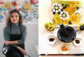 کارگاه رایگان آنلاین نوروزی سایا بهنام: نقاشی با رنگدانه های طبیعی مانند زعفران، زردچوبه و چای
