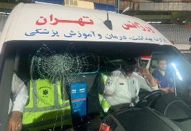 Why did Shojaei break ambulance windshield in Esteghlal Traktor match?