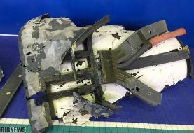 انتشار تصاویر لاشه پهپاد ۱۳۰ میلیون دلاری جاسوسی آمریکا/ ایران: به پهپاد بارها اخطار داده شد/ هواپیمای جاسوسی دیگری را با ۳۵ سرنشین منهدم نکردیم