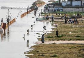 کارون به مرز هشدار رسید؛ جاده ساحلی اهواز زیر آب میرود/ موج اولیه سیلاب وارد سدهای خوزستان شد