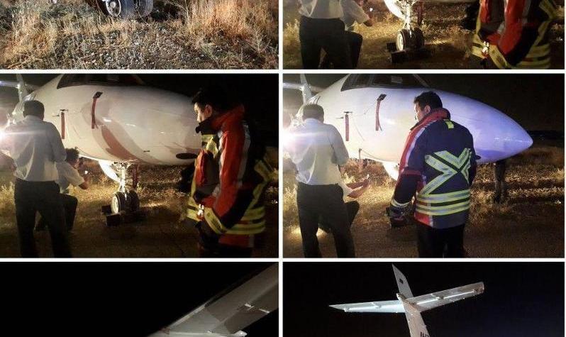 تصاویر خروج یک جت خصوصی روسی از باند فرودگاه مهرآباد