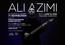 Ali Azimi Acoustic Concert in Edinburgh