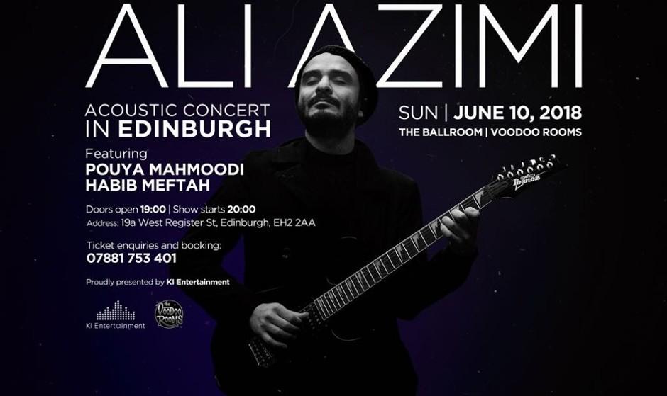 کنسرت آکوستیک علی عظیمی در ادینبورگ