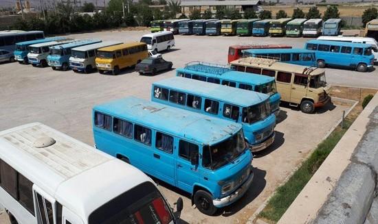 تجمع رانندگان مینیبوس مقابل شورای شهر تهران