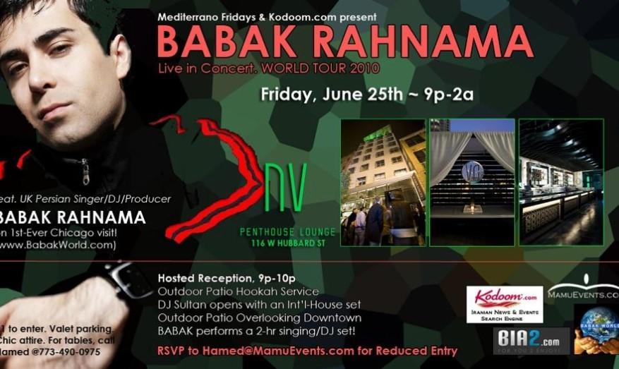 Babak Rahnama Concert by Mediterrano Fridays