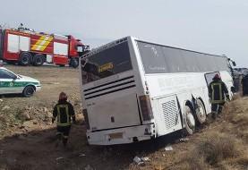 اتوبوس بانوان کاراتهکار فارس هم واژگون شد: ۱۶ مصدوم