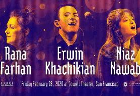 Niaz Nawab, Erwin Khachikian & Rana Farhan in San Francisco