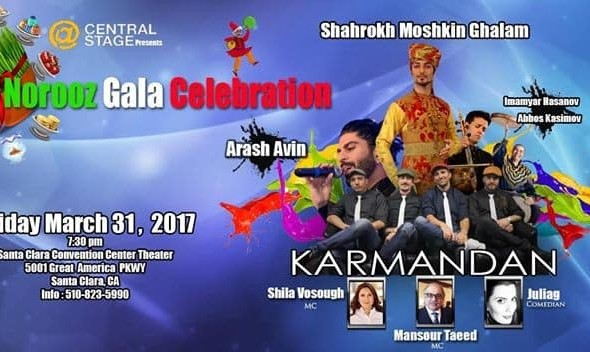 CANCELED: Karmandan, Shahrokh Moshkin Ghalam at Norooz Gala Celebration (Persian New Year)