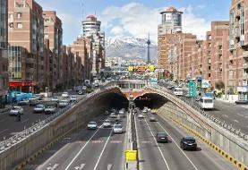 ورود موتورسیکلتها به تونل های تهران ممنوع شد