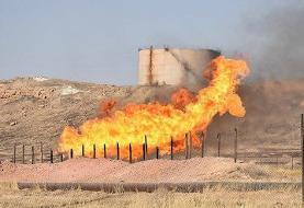 ادامه آتش سوزیهای زنجیره ای یا عمدی: آتشسوزی در اطراف خط لوله انتقال نفت برومی اهواز