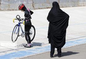 تصاویر مسابقات لیگ برتر دوچرخهسواری پیست سرعت بانوان