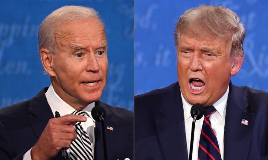 ترامپ بی وقفه سخنان بایدن و مجری مناظره انتخاباتی را قطع کرد!