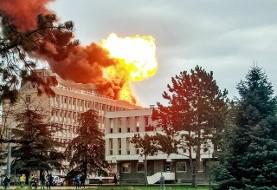 انفجار مهیب گاز در دانشگاه لیونِ فرانسه