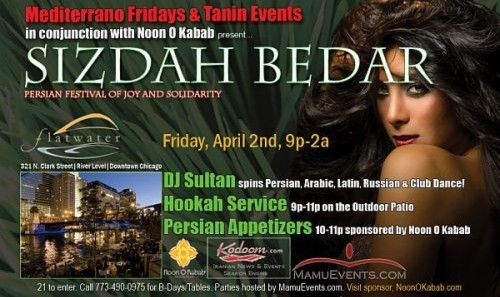 Mediterrano Fridays presents Sizdah Bedar Persian Party