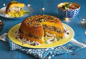 An Out-of-this-world Delicious, Colorful, Healthy Iranian Crunchy Saffron Rice Souffle'