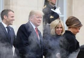 ماشین دودزای ترامپ در فرانسه سوژه شد+ عکس