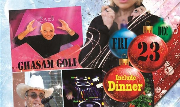 Christmas Party with Sheila, Ghasem Goli, Live Music, Dinner Reception