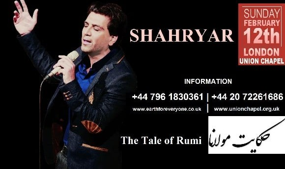 Shahryar Live in London: The Tale of Rumi