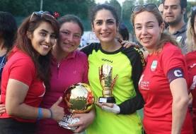 بی حجاب ولی با امکانات: دختران دانشجوی ایرانی در مسابقات محلی فوتبال ...