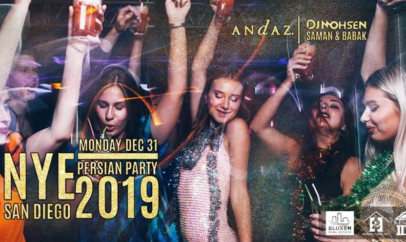 Special Tickets for San Diego Persian New year's Eve Party at the Luxurious Andaz Hotel