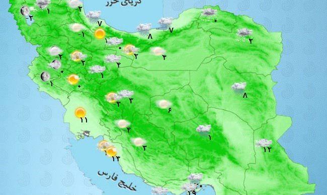 از بندرعباس تا قم: نقشه وقوع سیل، برف و کولاک در ۱۷ استان کشور
