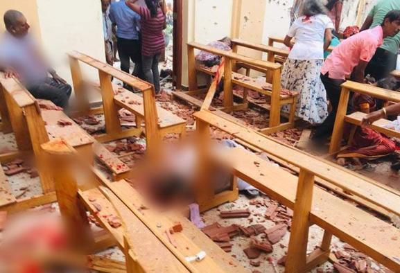 در روز عید پاک مسیحیان شش انفجار در ۳ شهر سریلانکا ۶۵۶ کشته ...