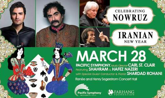 POSTPONED: Shahram Nazeri, Hafez Nazeri and Shardad Rohani at the Pacific Symphony Nowruz Concert